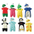 2PCS Newborn Baby Rompers Summer Style Baby Girls Clothes Baby Boy Brand Clothing Set Animal Cute Infant Jumpsuits Ropa Bebes
