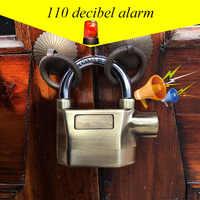 Bemodst Built-in Movement Sensor Security 110db Siren Alarm Lock Universal Anti-Theft Padlock for Bicycle Motorcycle Door Gate