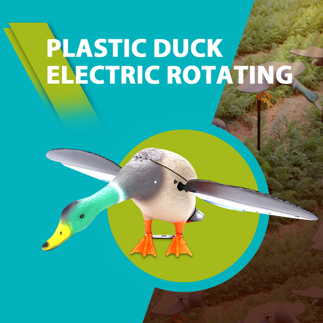 Plastic Hunting Duck Decoy Outdoor Decoy Duck Remote Control Motor Decoy With Magnet Spinning Wings