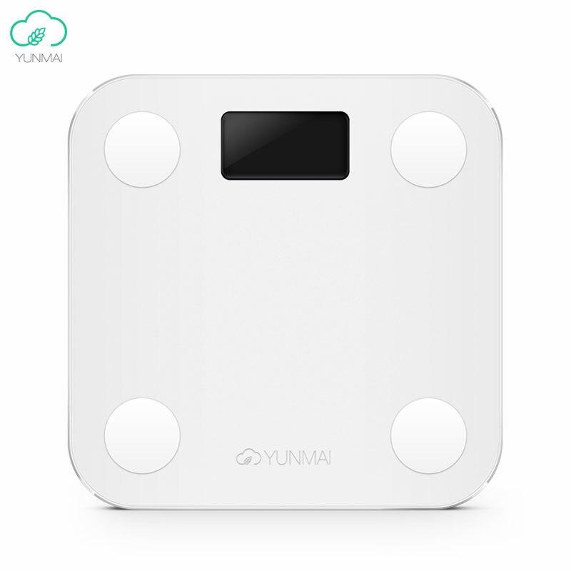 Versión Internacional Yunmai Mini inteligente balanza Digital de grasa corporal pérdida de peso de la salud escalas IMC muscular tasa APP remoto