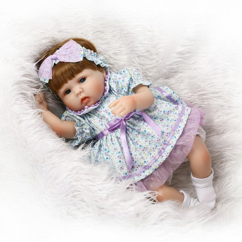 42cm Soft Slicone reborn baby doll toy play house bedtime toys for kid girls brinquedos newborn babies collectable doll pp bedtime for baby dwf acct
