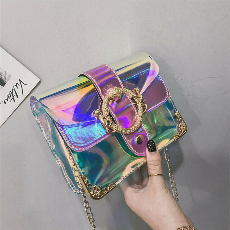 Hot Women PVC Transparent Clear Shoulder Bag Tote Jelly Purse Womens Fashion Wallets Handbag Borsa A Tracolla Trasparente