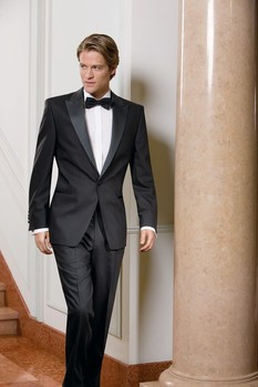 One Button Peak Lepal Groom Tuxedos Groomsmen Men's Wedding Prom Suits (Jacket+Pants+BowTie+Girdle) NO:097