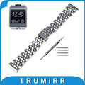 22mm Stainless Steel Watch Band Butterfly Buckle Strap for Samsung Gear 2 R380 Neo R381 Live R382 Wrist Belt Bracelet + Tool