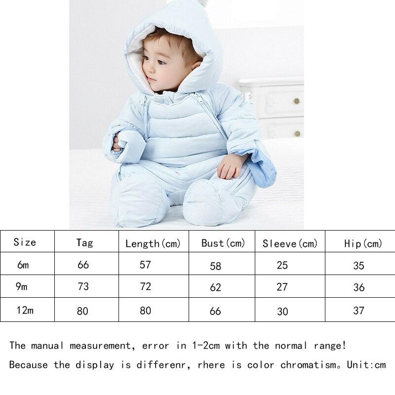 Image 5 - 2019 Autumn Winter Baby Romper Baby Boy Girl Winter Warm Kids Jumpsuit Clothes Fleece Warm Baby Infant Clothes Rompers 0 12M-in Rompers from Mother & Kids