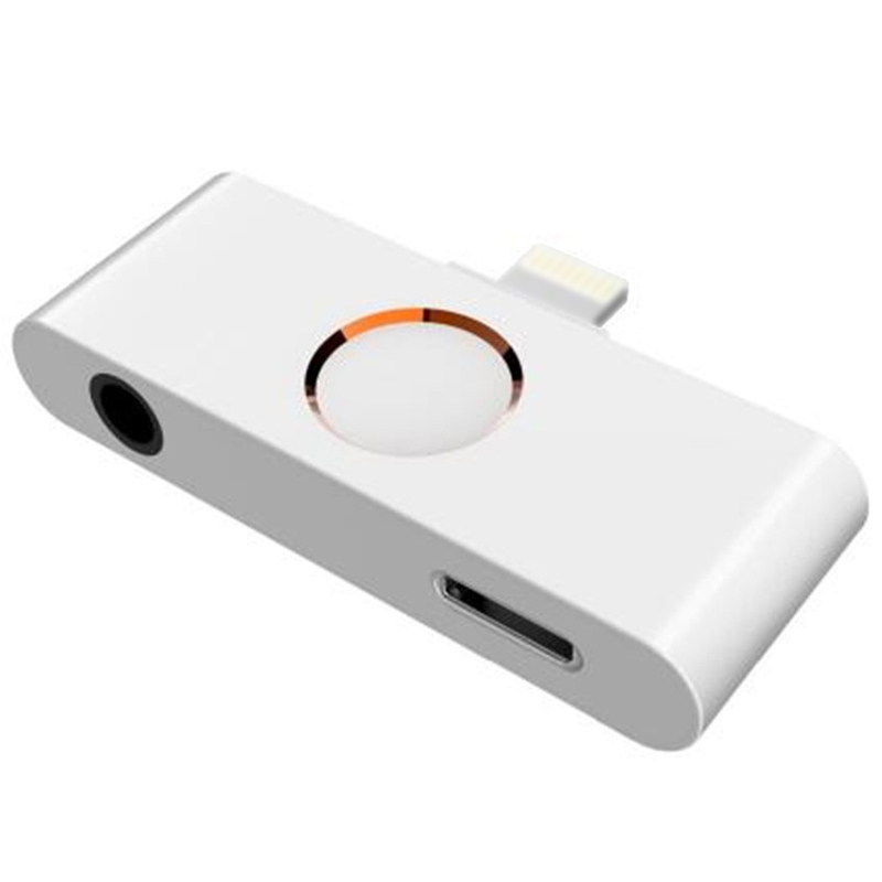 For iPhone X XR XS 8 Ipad iOS 12 11 10 Home Button Audio <font><b>Adapter</b></font> <font><b>Headphone</b></font> Converter Support Home Key Audio 3.5mm <font><b>Jack</b></font> and Lis image
