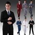 (Jacket + Pants + Vest + Tie) Nuevos Hombres de Trajes de Boda Delgado Tuxedo Marca Moda Trajes Formales de Negocios Trajes de vestir Chaqueta cbj-H0285