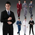 (Jacket+Vest+Pants+Tie) New Men Wedding Suits Slim Tuxedo Brand Fashion Formal Costumes Business Dress Suits Blazer  cbj-H0285