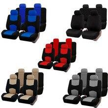 Carnong универсальные автомобильные чехлы для сидений, автомобильные защитные черные, красные, бежевые, серые, синие передние полный комплект, органайзер, внутренние аксессуары, чехлы для сидений