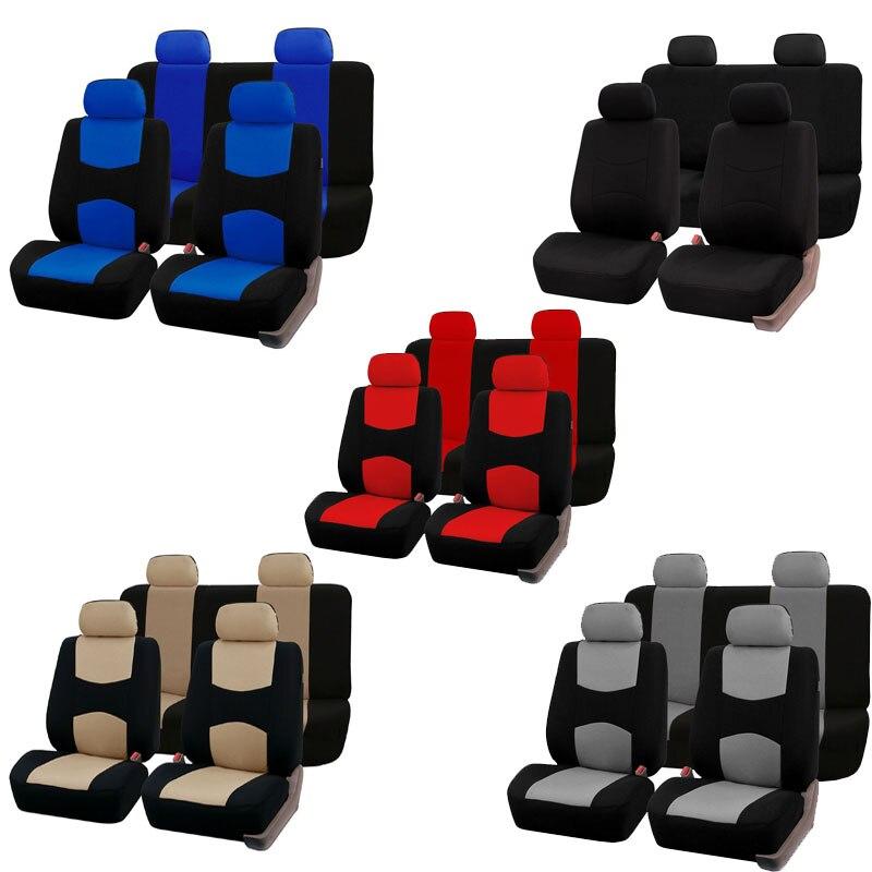 Carnong Universal Tampa de Assento Do Carro auto protetor preto vermelho bege cinza azul frente tampas de assento conjunto completo acessório organizador interno