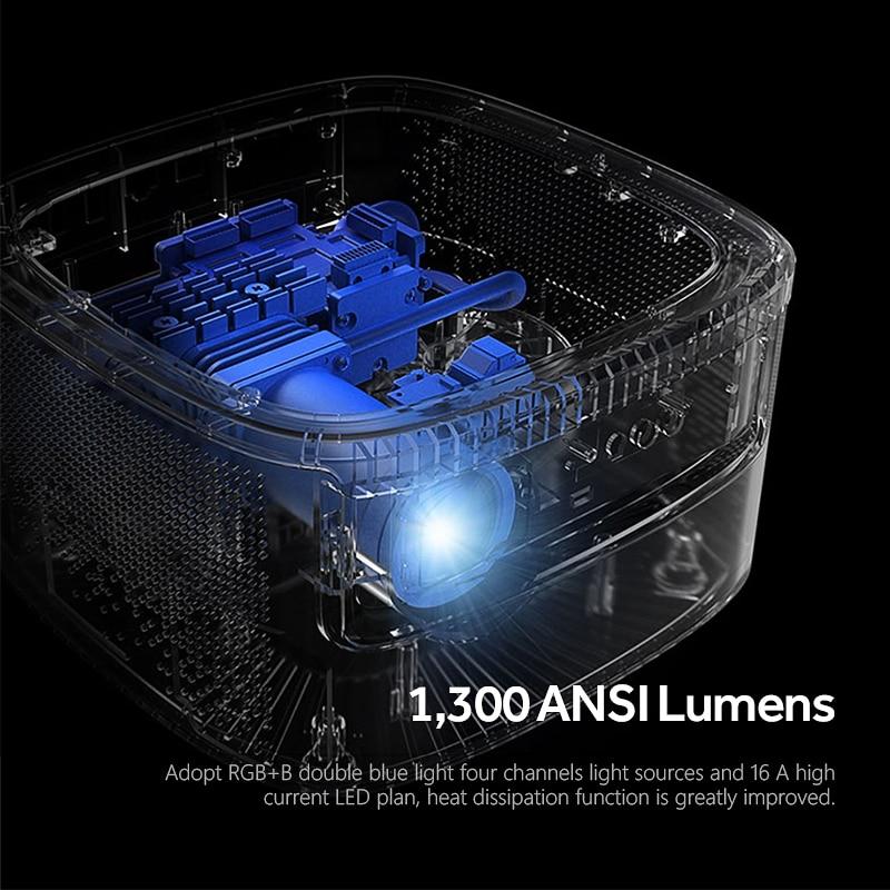 Image 3 - JMGO N7 Full HD Projector, 1300 ANSI Lumens, 1920*1080P. Smart Beamer Home Cinema. Support 4K, 3D Projector