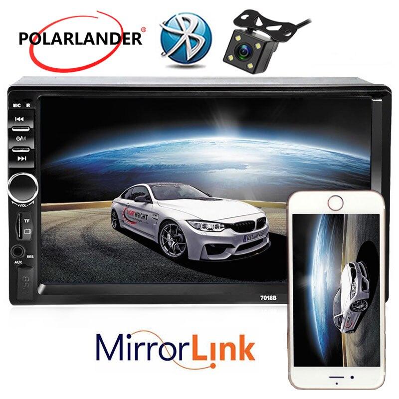 Chinois anglais langue écran tactile 2 Din 7 pouces HD 12 V voiture MP4 lecteur stéréo Radio FM SD/USB pour vue arrière caméra miroir lien