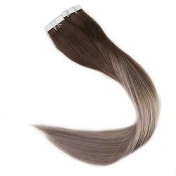 Полный блеск 100 г цвет #4 темно-коричневый выцветание до #18 пепел блондинка балаяж лента в волосы человеческие волосы remy наращивание волос