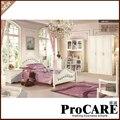 Hot Sale white solid wood bedroom sets children bedroom furniture