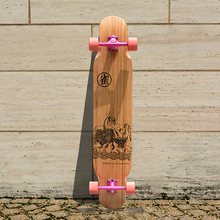 KOSTON pro light weight  dancing style  longboard completes for girl use,  long skateboard  for girl board walking