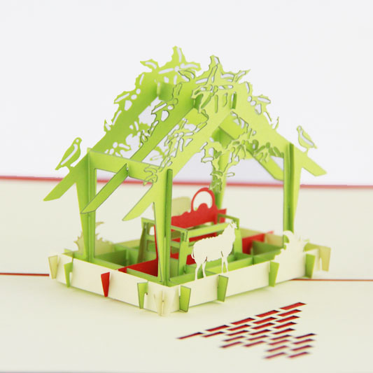 A greenhouse  Christmas card /3D  kirigami card/ handmade greeting cards gift for men  Free shipping amazon com gift cards in a greeting card free one day shipping
