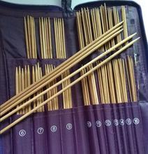 Knitting Needle needlework PU bag 11 Size Circular set Straight Needles 5pc Crochet Hooks Bamboo Knit Weave Stitches
