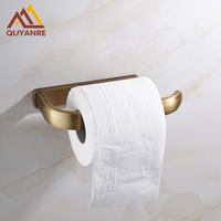 Free Shipping Solid Brass Toilet Paper Holders Kitchen Roll Paper Rack Holder Bar Antique Brass