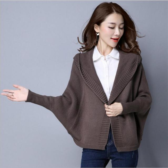 4daf1b934 2018 Women Cardigans Winter Sweater Knitting Patterns Sweater Loose Wool  Warm Sweater Women Tops