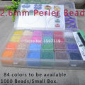 25440 Beads /Set Mini Hama 2.6mm Beads 24Colors 1060Beads/Grid Fuse Beads Educational Toys(3 Pegboards+1 Tweezers+5 Iron Papers)