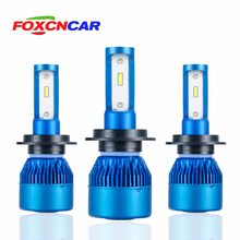 Foxcncar H7 H4 H11 H1 LED Car Headlights Bulb mini Lamp 9005 9006 COB CSP Chip 12V 10000lm 72W 6500K 24V Auto moto truks IP67(China)