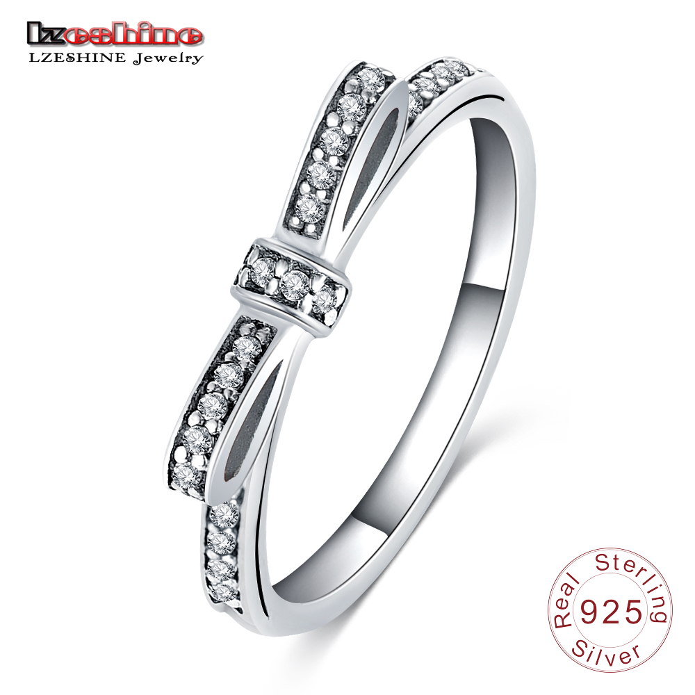 LZESHINE 925 Sterling Silver Ring for Women Wedding Jewelry
