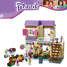 389pcs BELA City Food Market Building Blocks Set Mia Maya Minifigures Bricks Toys Compatible Legoelieds Friends For Girls 41108