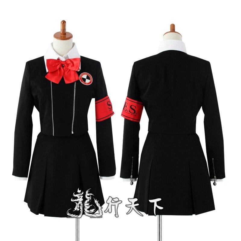 Shin Megami Tensei Persona 3 Mitsuru Kirijo Chihiro Fushimi femme uniforme scolaire Cosplay Costume Halloween Costume custom made