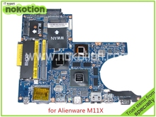 NAP00 LA-5811P CN-0K1PWV K1PWV For dell Alienware M11X R1 laptop motherboard intel SU7300 CPU nvidia N11P-GS1-A3 Graphics