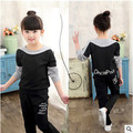 Kids spring 2017 new big virgin girls sports suit baby autumn two-piece casual long-sleeved clothes for girls 2-12 years old 3