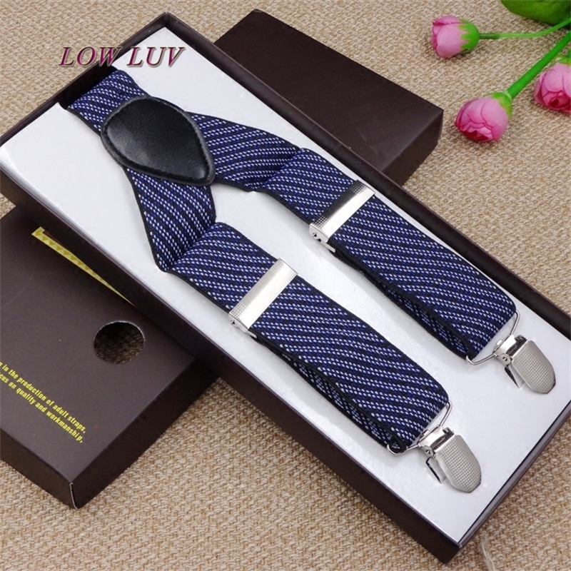 Fashion Women Men's Unisex Clip-on Braces Elastic Slim Suspender Y-Back Suspenders Male Pants Jeans Braces 20 Colors 3.5*120cm