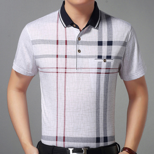 Image 2 - 2020 sıcak gerçek cep vücut geliştirme kısa kollu Polo GÖMLEK erkek ekose Polo yaz Pol Tee gömlek Mens elbise Poloshirt forması 1398