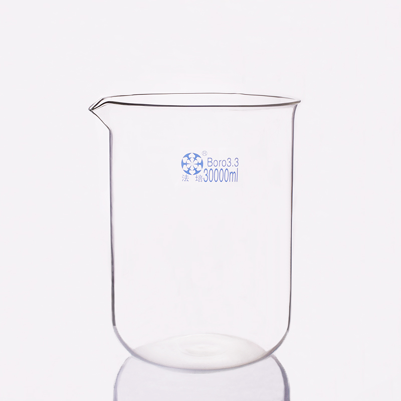 Beaker in low form,Capacity 30000ml,Outer diameter about 330mm,Height about 450mm,Laboratory beakerBeaker in low form,Capacity 30000ml,Outer diameter about 330mm,Height about 450mm,Laboratory beaker
