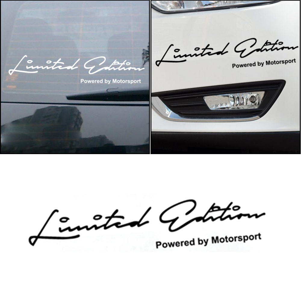 LIMITED EDITION Creative Vinyl Car Window Sticker Decal Accessories Powered By Motorsport