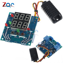 12V Intelligent Temperature Humidity Controller Relay Thermostat AC/DC Adjustable Control Thermometer Hygrometer AM2301 Sensor