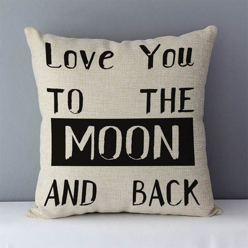 """HTB1bEKHXh rK1RkHFqDq6yJAFXa3 Popular phrase words letters printed couch cushion home decorative pillows 45x45cm cotton linen square cushions """"Love you more"""""""