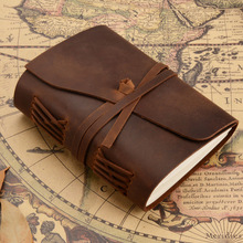 Retro Handmade Genuine Leather Diary Cowhide Notebook Journal Vintage Gift traveler