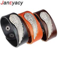 Новинка 2018 креативный модный кожаный браслет janeyacy мужской