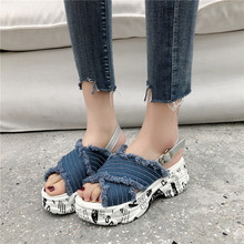 Summer Women Denim Casual Sandals