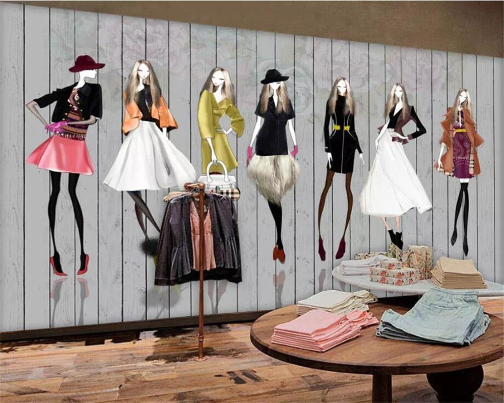 D Fashion Beauty Supply: Beibehang Custom Wallpaper 3d European And American Wood