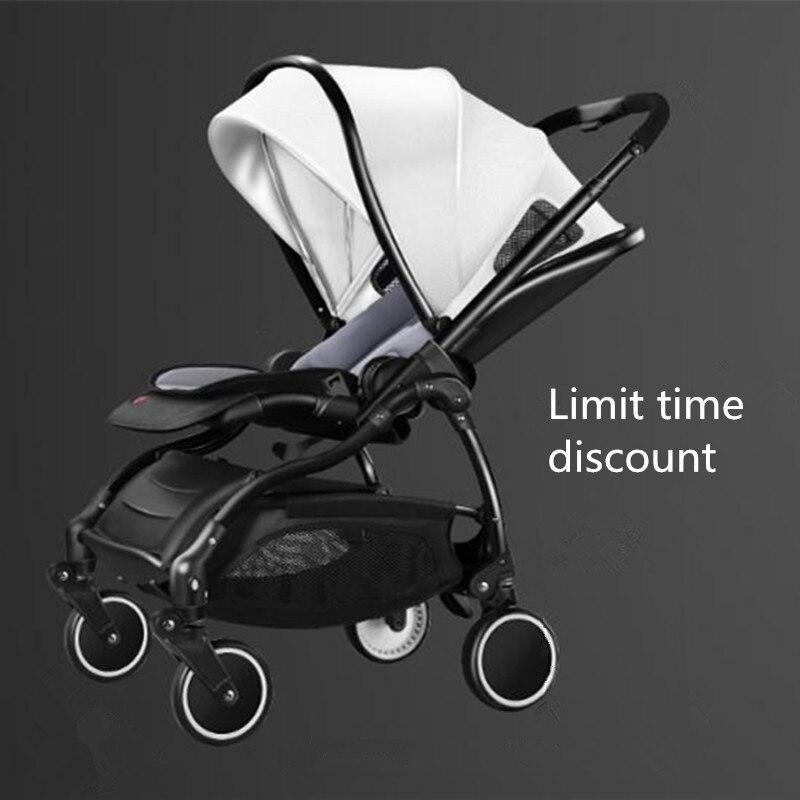 Mode bébé poussette léger landau peut se plier amortisseur bébé chariot pour 0-3 ans enfant rapide livraison