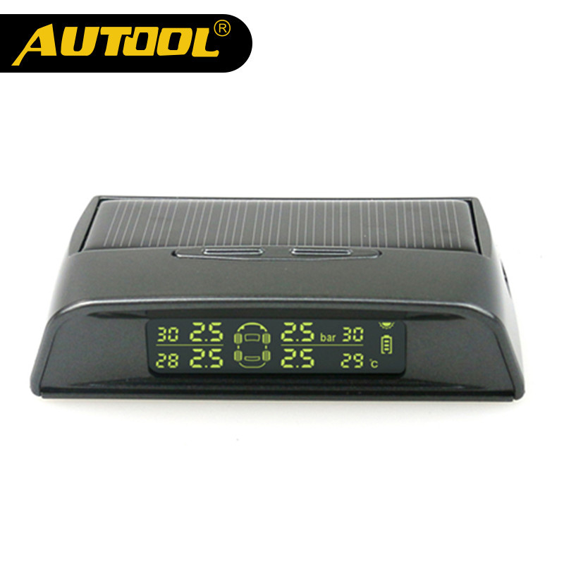 AUTOOL TW400 Wireless Tire Pressure Monitor External Sensor Solar Energy TPMS with LED Display Screen Car Alarm Systems 2018 newest solar tpms newest technology car tire diagnostic tool with mini external sensor superior quality wireless tpms