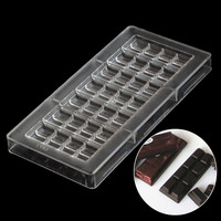 Polycarbonate Chocolate Mold Cheap Baking Pastry Tools Plastic Chocolate Mould Kitchen Products Accessories