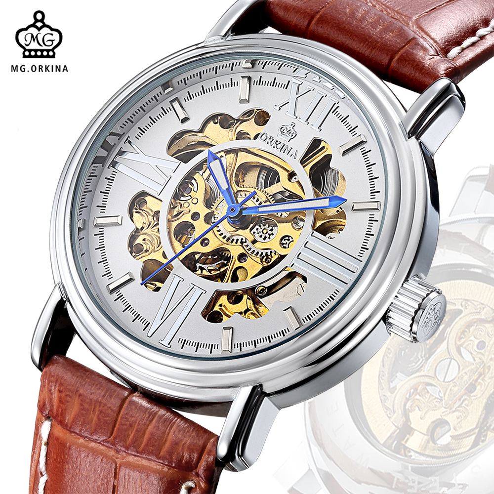 MG. ORKINA Male Watches Luxury Engraving Golden Skeleton Mens Mechanical Watch Automatic relogio masculino de luxoMG. ORKINA Male Watches Luxury Engraving Golden Skeleton Mens Mechanical Watch Automatic relogio masculino de luxo