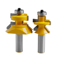 2Pcs Carbide 45 Degree Router Bit 1 2 Shank X 1 1 8 Matched Tongue Groove