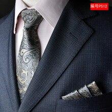 NINIRUSI  100% silk ties gravata 8 cm men designers fashion 2017 necktie