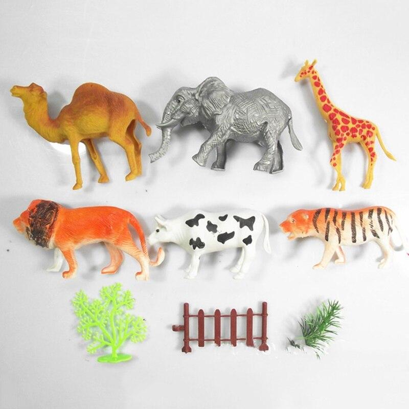 1 Set Farm Simulation Animal Model Home Decor Small Plastic Figures For Kids Toy Statue