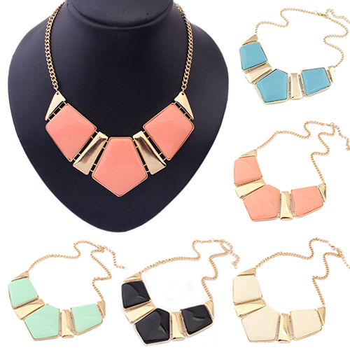 2016 New Women Retro Necklace Bib Statement Chain Fashion Collar Necklace for Party