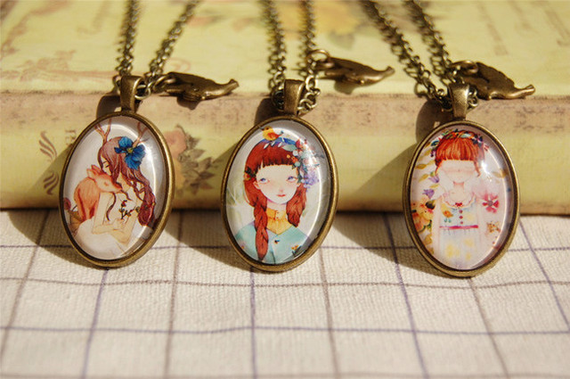 6pcs Lot Three Sisters Best Friends Pendant Necklaces S Friendship Charm Vintage Bff Jewelry