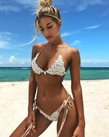2017 Sequin Bikini Set Lace Swimsuit Bathing Suit Swimwear Beachwear